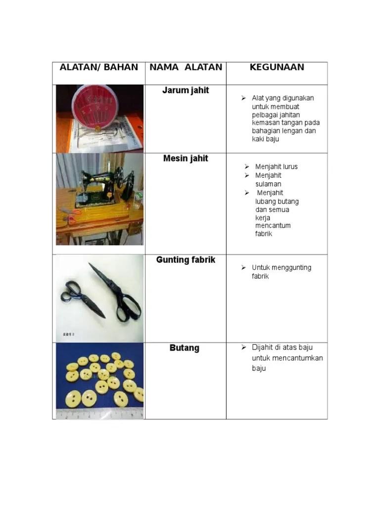 Bahan Jahit : bahan, jahit, Alatan/, Bahan, Alatan, Kegunaan, Jarum, Jahit