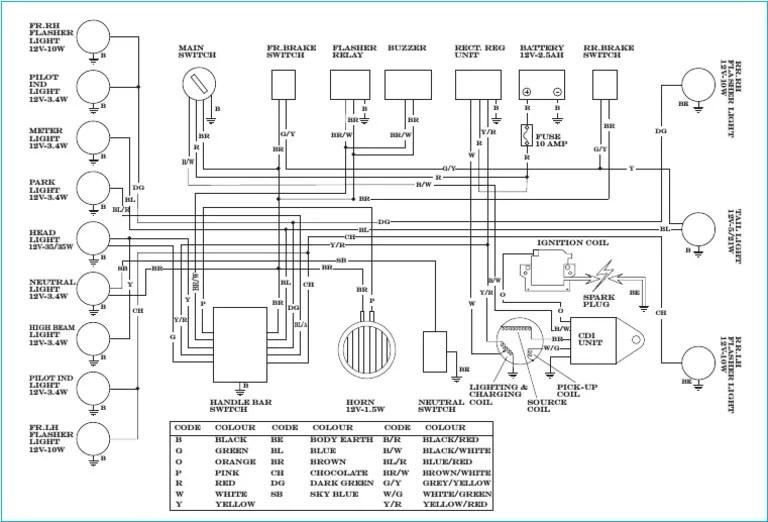 wiring diagram motor yamaha