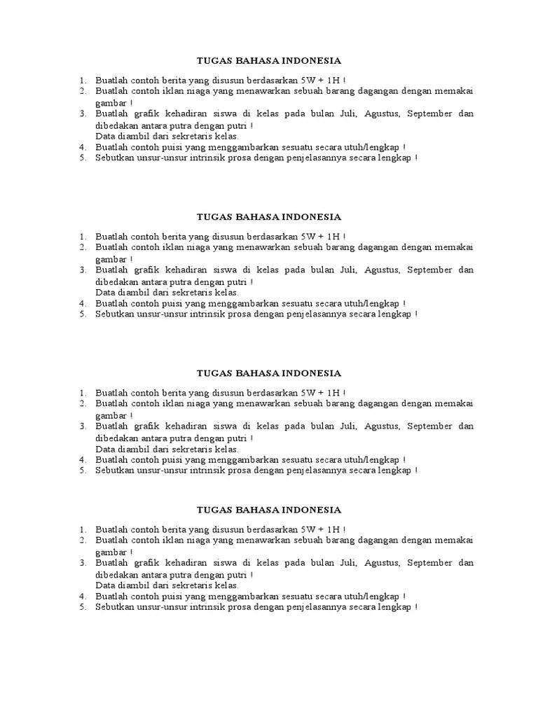 Sebutkan Unsur Unsur Intrinsik Puisi : sebutkan, unsur, intrinsik, puisi, Tugas, Bahasa, Indonesia1