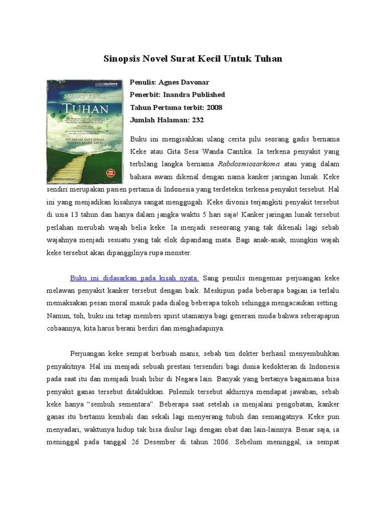 Sinopsis Surat Kecil Untuk Tuhan : sinopsis, surat, kecil, untuk, tuhan, Sinopsis, Novel, Surat, Kecil, Untuk, Tuhan