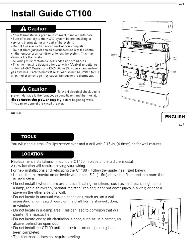 medium resolution of 2gig ct100 install guide thermostat heat pumpct100 wiring diagram 5