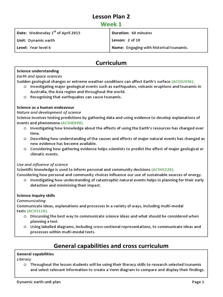 medium resolution of lesson plan 2 edst201 unit plan   Tsunami   Science