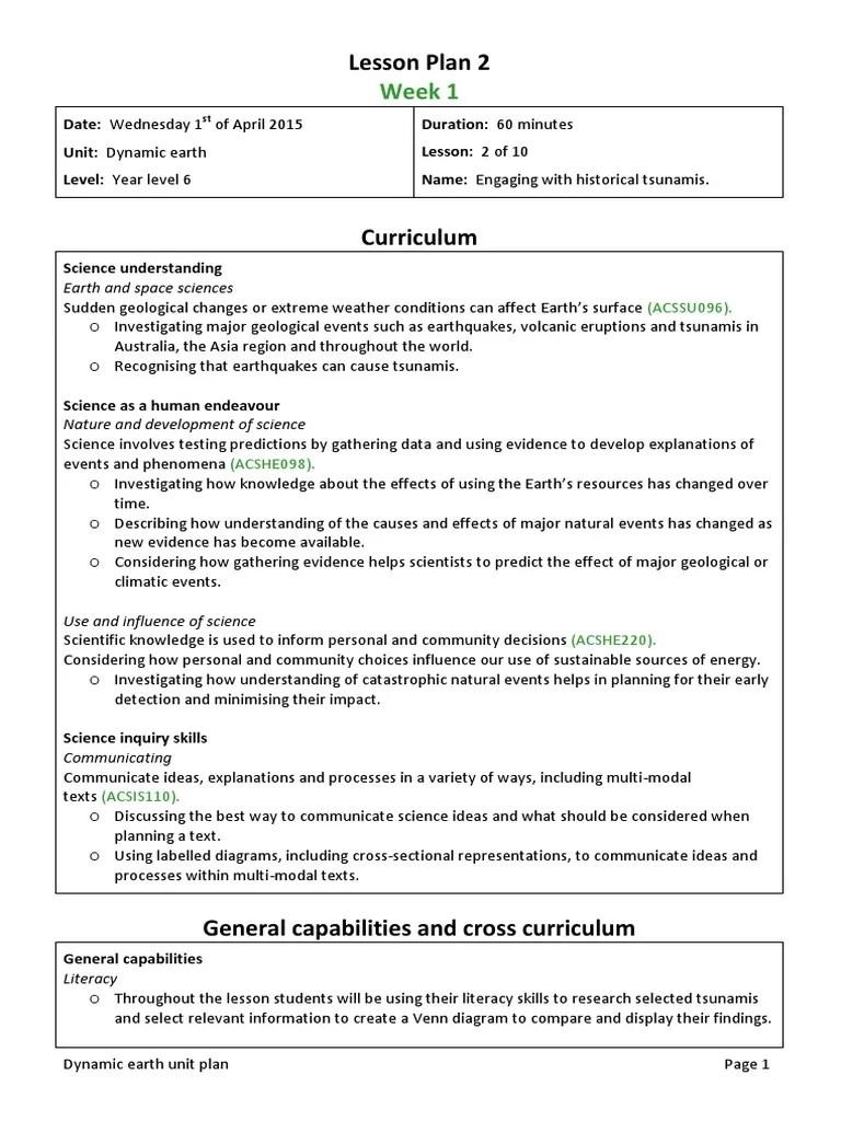 small resolution of lesson plan 2 edst201 unit plan   Tsunami   Science