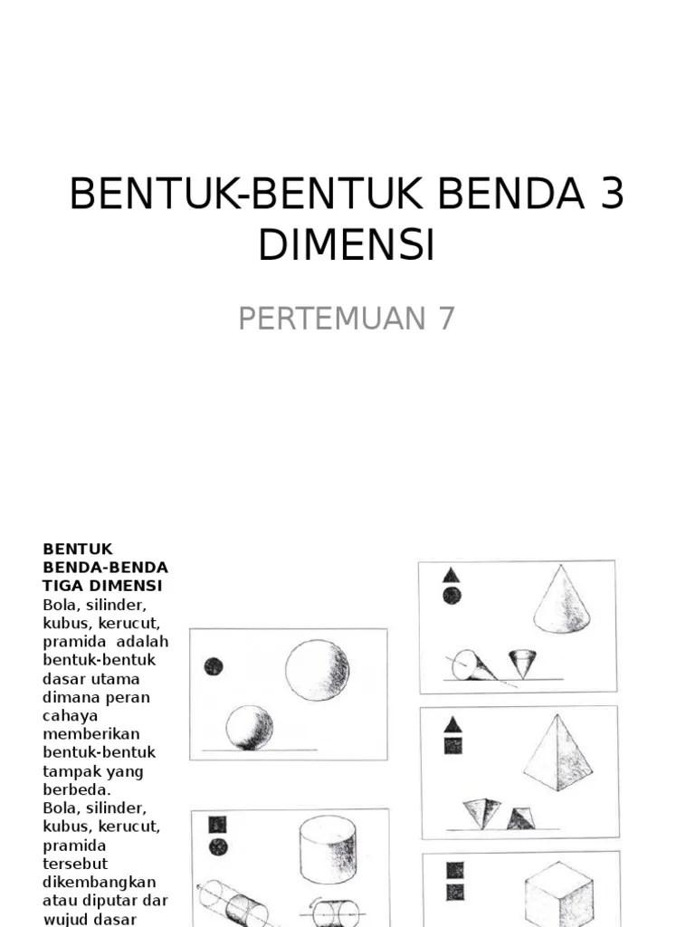 Bentuk Dasar Benda : bentuk, dasar, benda, BENTUK-BENTUK, BENDA, DIMENSI.pptx