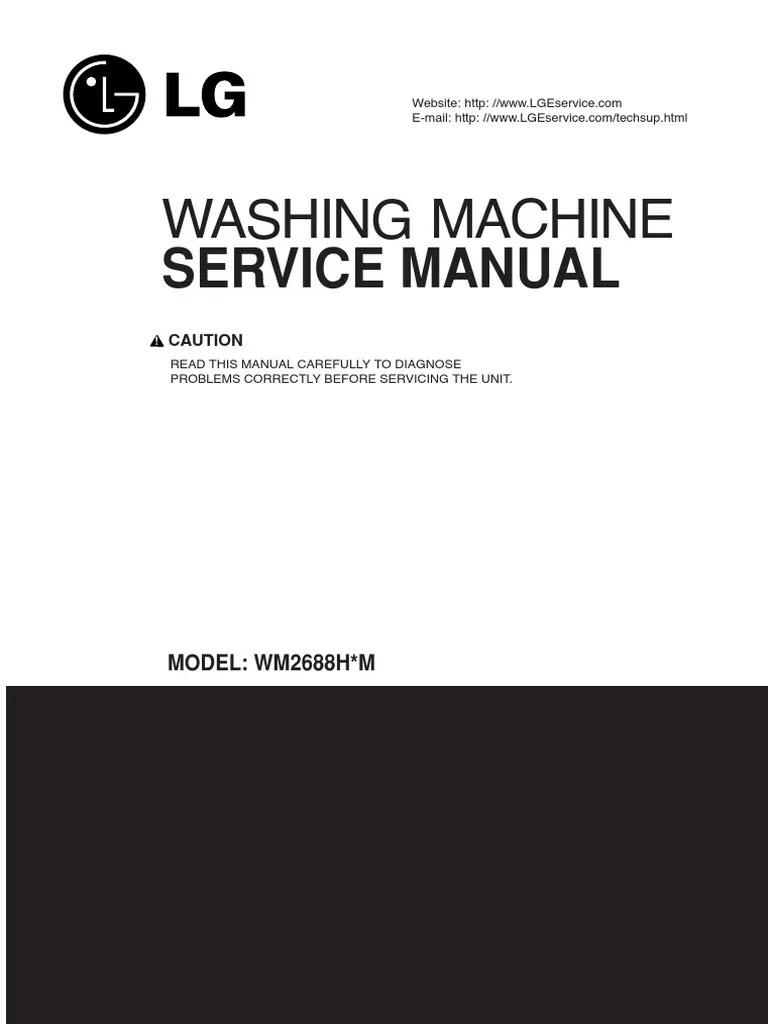 lg front load washer wm2487h service manual washing machine wiring schematic lg washers [ 768 x 1024 Pixel ]