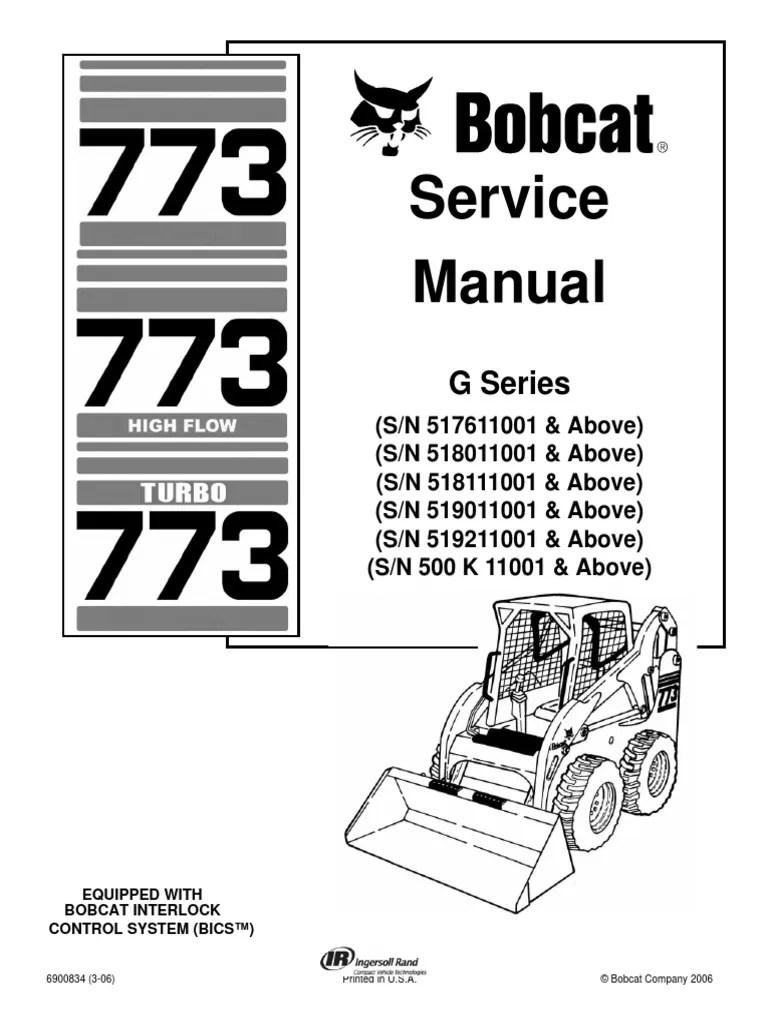 hight resolution of bobcat 773 service repair manual elevator mechanical engineering bobcat wiring schematic 773