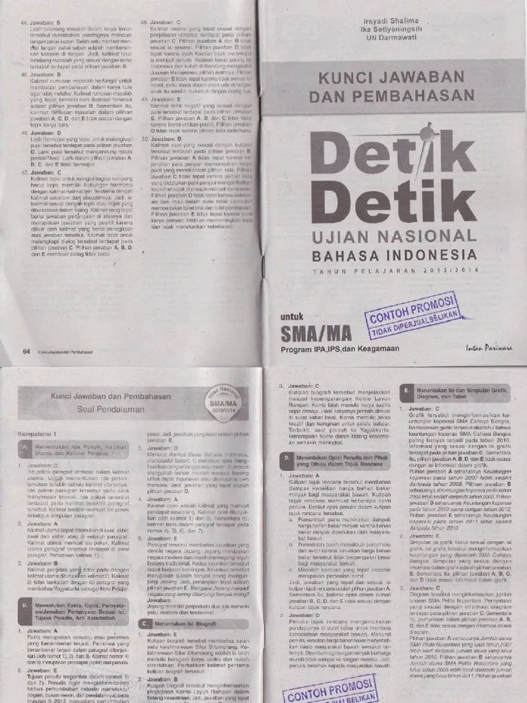 Pembahasan Un Bahasa Indonesia Sma 2019 : pembahasan, bahasa, indonesia, Pembahasan, Detik, Bahasa, Indonesia, Untuk, Program, Keagamaan