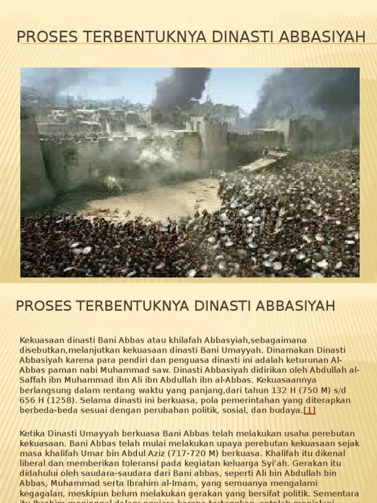 Proses Berdirinya Dinasti Abbasiyah : proses, berdirinya, dinasti, abbasiyah, PROSES, TERBENTUKNYA, Dinasti, ABBASIYAH.pptx