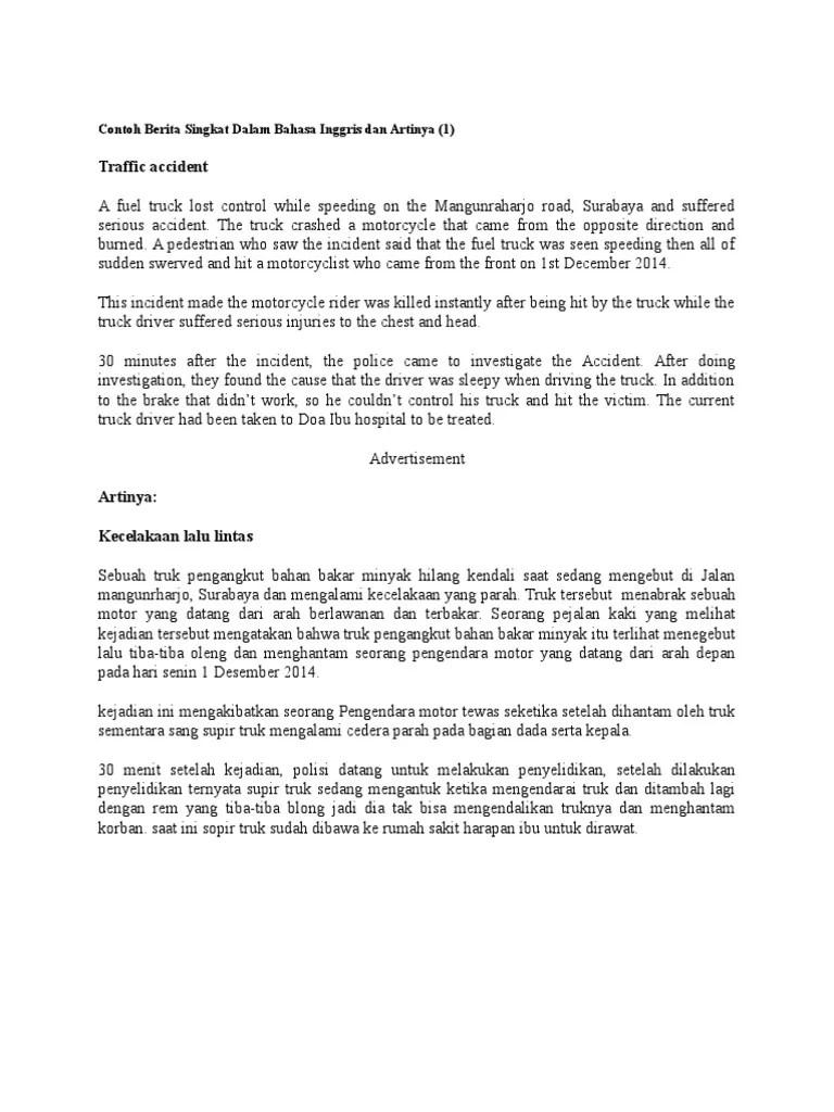Contoh Teks Pembawa Berita Dan Reporter Dalam Bahasa Inggris Terkait Teks Cute766