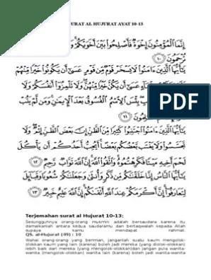 Terjemahan Surat Al Hujurat Ayat 10 : terjemahan, surat, hujurat, Terjemahan, Surat, Hujurat, 10-13
