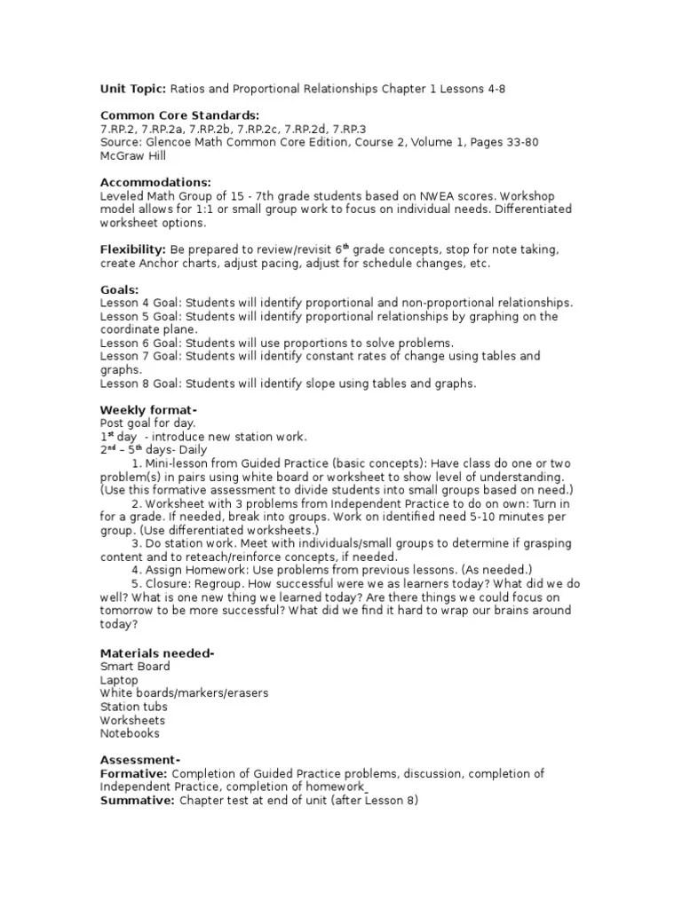 math unit 1 lesson 4-8   Worksheet   Ratio [ 1024 x 768 Pixel ]