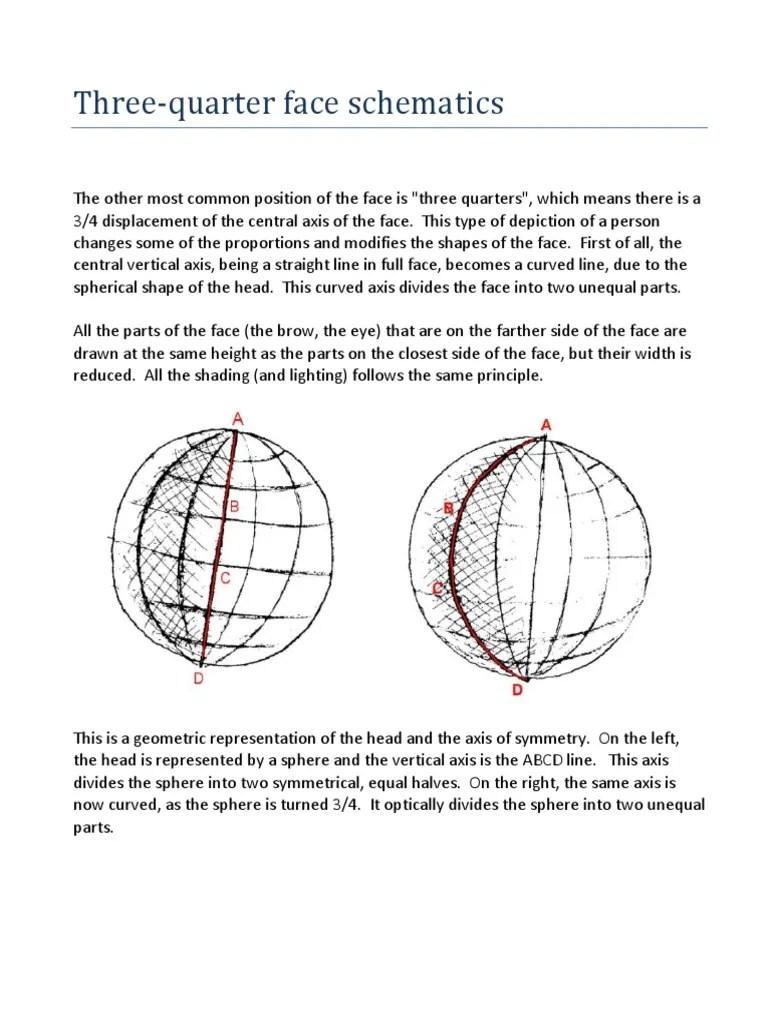 hight resolution of three quater face schematics pdf cartesian coordinate system human nose