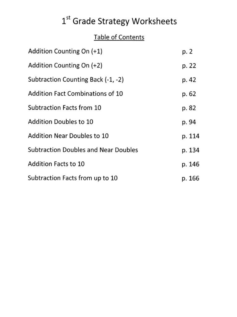 1st Grade Worksheets [ 1024 x 768 Pixel ]