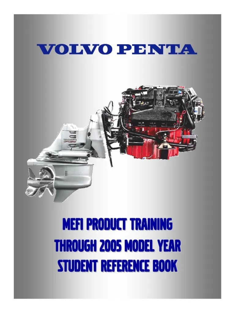 hight resolution of volvo penta mefi product training 2005 student reference book fuel injection ignition system