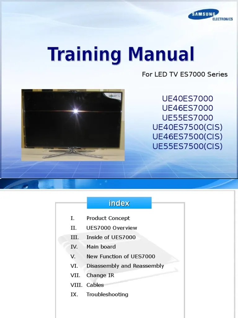 hight resolution of samsung training manual led tv uexxes7000 uexxes7500 en hdmi digital television