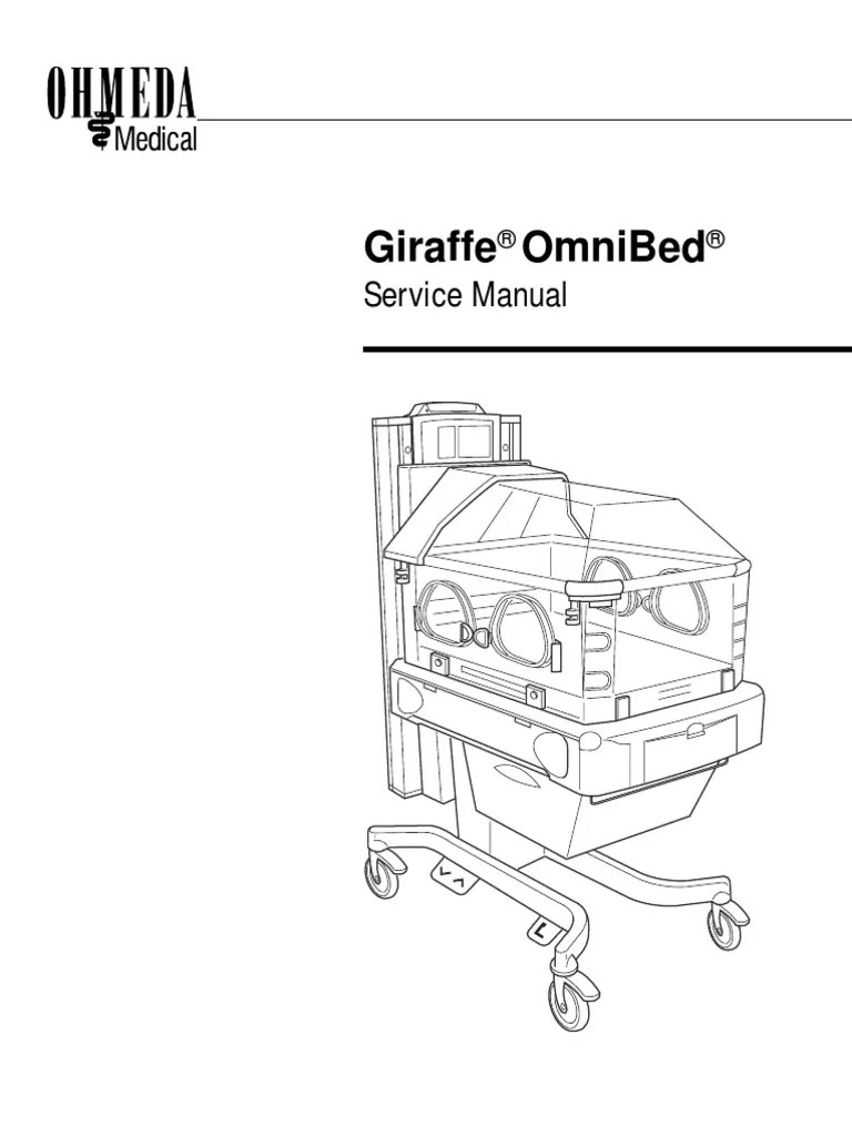 Incubadora General Electric Giraffe Modelo Omnibed (Manual