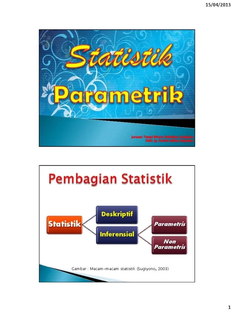 Uji Statistik Parametrik : statistik, parametrik, Statistik, Parametrik, Hipotesis, Komparatif