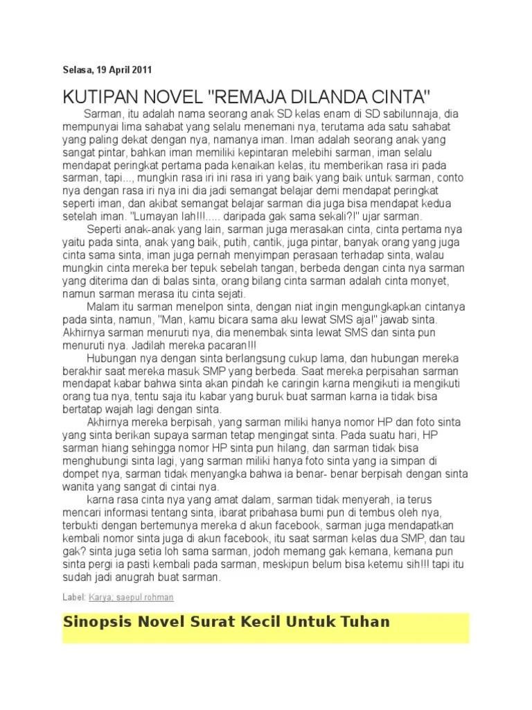 Kutipan Novel Remaja : kutipan, novel, remaja, Kutipan, Novel, Anggi