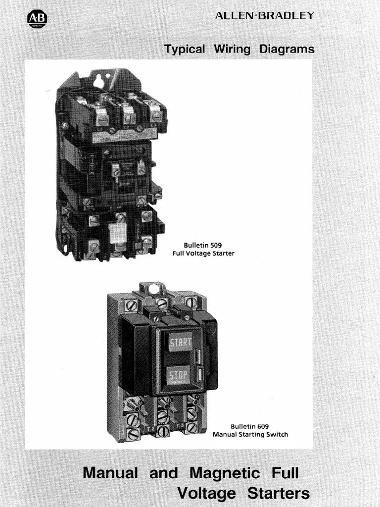 small resolution of ab starter diagram relay 83 views 509 motor starter wiring diagram 9
