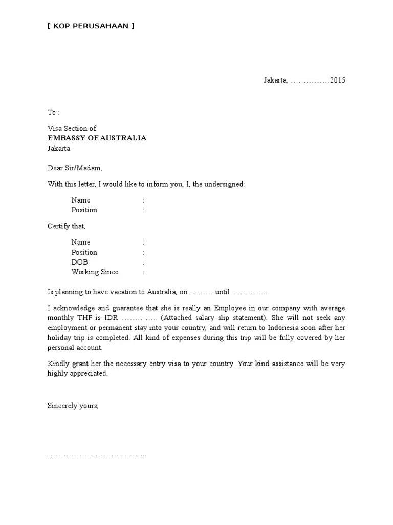 Surat Referensi Bank Untuk Visa Schengen : surat, referensi, untuk, schengen, Contoh, Surat, Referensi, Untuk, Australia, Cute766