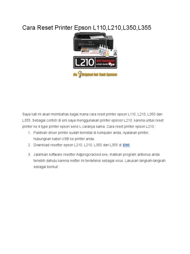 Download Aplikasi Reset Printer Epson L120 : download, aplikasi, reset, printer, epson, Reset, Printer, Epson