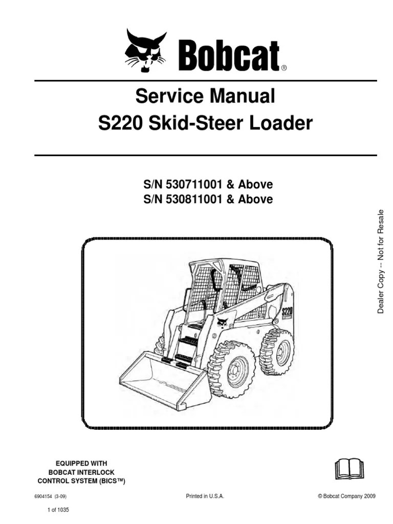small resolution of service manual bobcat s220 530711001 elevator switchs220 bobcat wire diagram 18