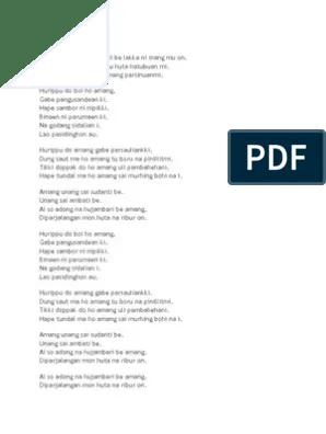 Lirik Patik Palimahon : lirik, patik, palimahon, Lirik, Patik, Palimahon, Goreng