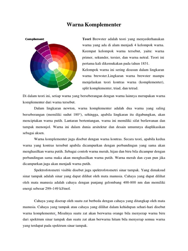 Warna Komplemen : warna, komplemen, Warna, Komplementer