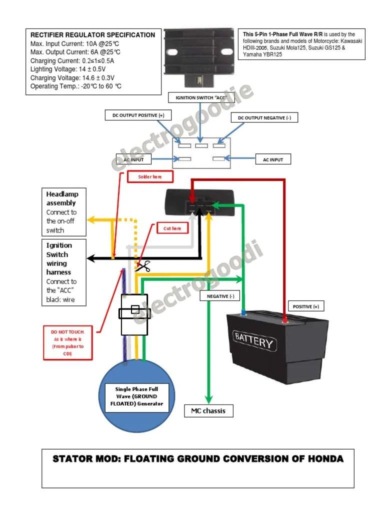 hight resolution of 1512227429 v 1 stator mod floating ground honda wave100 xrm110 solder rectifier honda wave honda wave 100 electrical wiring diagram