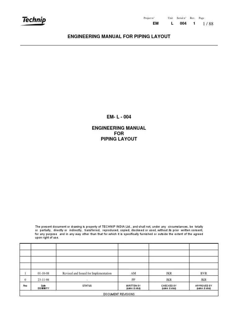 medium resolution of piping layout manual wiring diagram tutorialpiping layout manual wiring libraryem l 004 piping layout rev1mn pump
