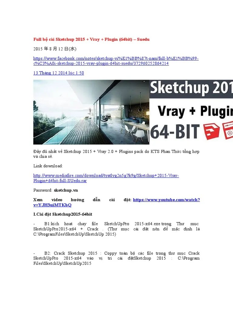 Plugin Sketchup 2015 : plugin, sketchup, Sketchup, Plugin, (64bit), SUedu