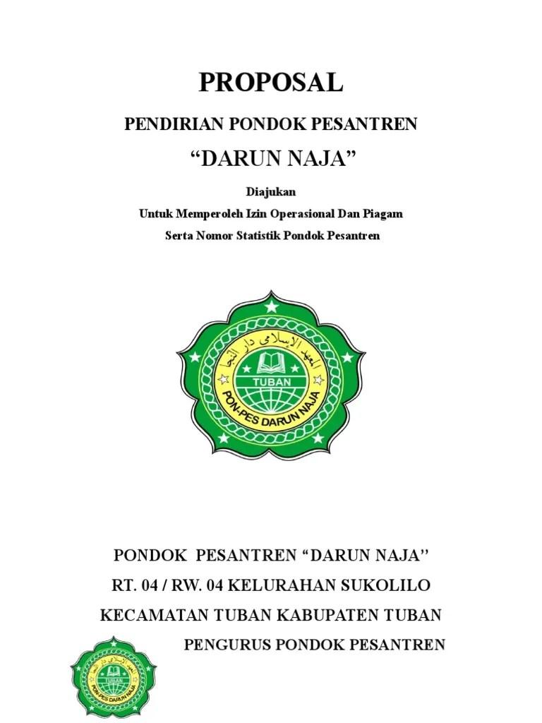 Proposal Pendirian Pondok Pesantren Darun Naja