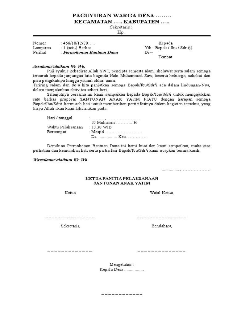 Proposal Santunan Anak Yatim : proposal, santunan, yatim, Proposal, Santunan, Yatim.doc