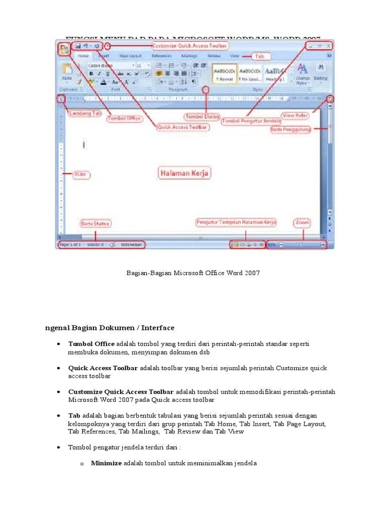 Fungsi Menu Toolbar : fungsi, toolbar, Fungsi, Microsoft