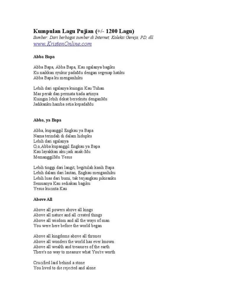 Lirik Lagu Yesus Kemuliaanmu : lirik, yesus, kemuliaanmu, Kumpulan, Pujian, Lagu)