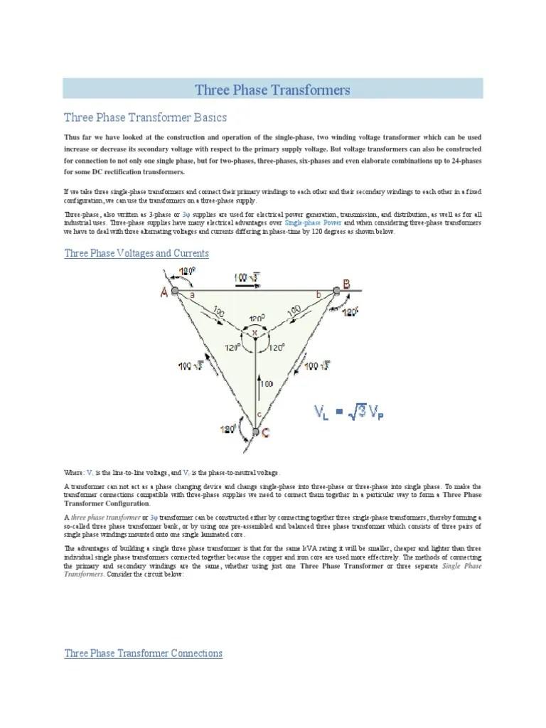 hight resolution of three transformer diagram