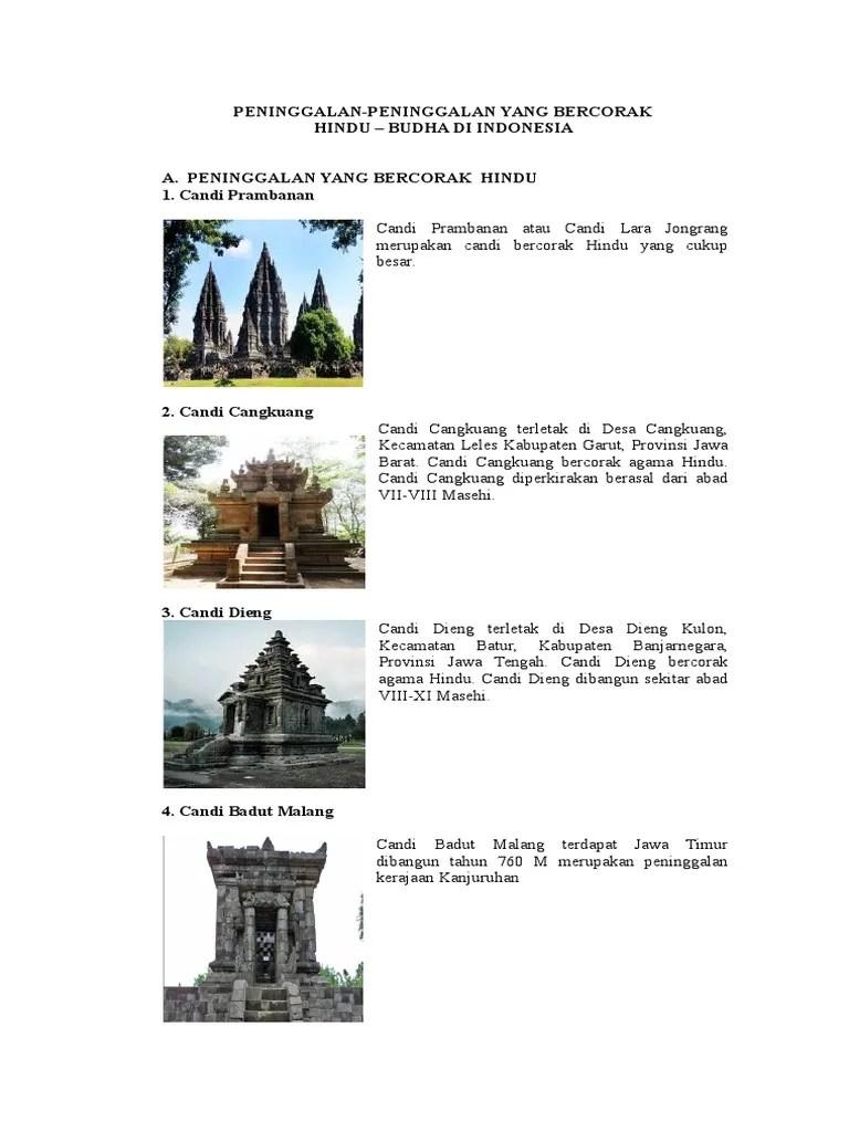 Peninggalan Bercorak Budha : peninggalan, bercorak, budha, PENINGGALAN, Hindu, Budha.docx