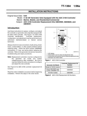 Kohler 12RES ADC 2100 Controller   Electric Generator   Analog To Digital Converter