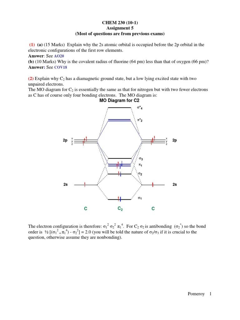 chem 230 10 1 assignment 5 most of molecular orbital chemical substances [ 768 x 1024 Pixel ]
