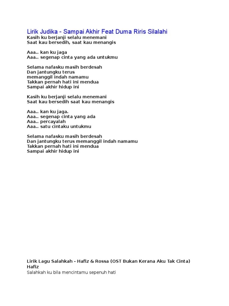 Lirik Lagu Jangan Menangis Untukku : lirik, jangan, menangis, untukku, Lirik, Jangan, Menangis