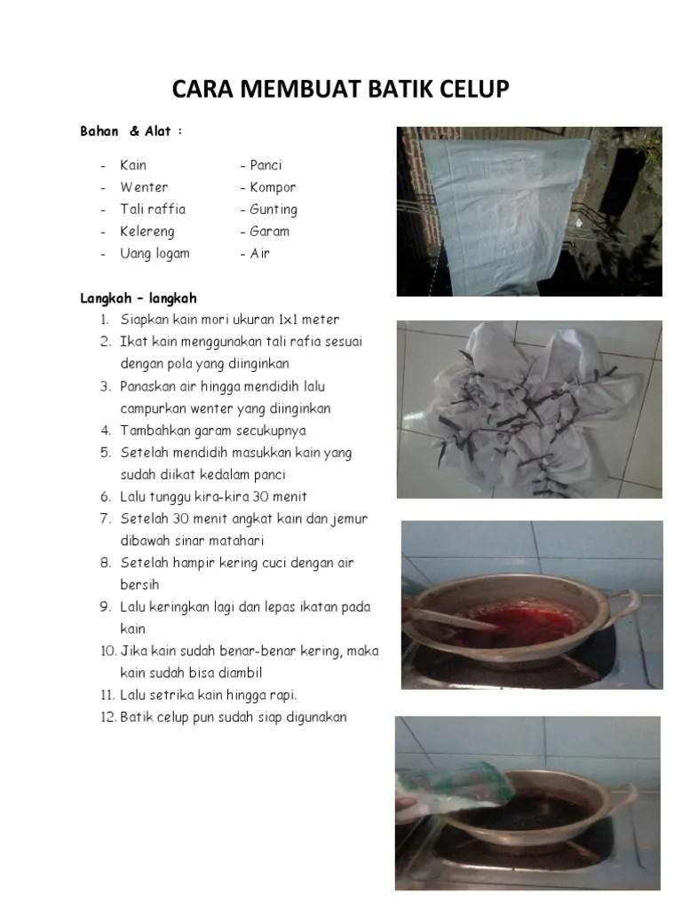 Teknik Membuat Batik : teknik, membuat, batik, Teknik, Membuat, Batik, Celup, Rasanya