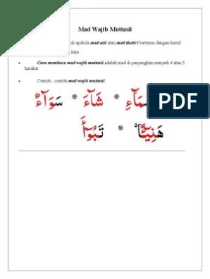 Mad Wajib Muttasil : wajib, muttasil, Wajib, Muttasil