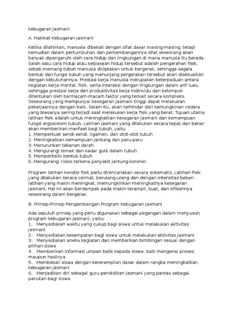 Prinsip Latihan Kebugaran Jasmani : prinsip, latihan, kebugaran, jasmani, Kebugaran, Jasmani