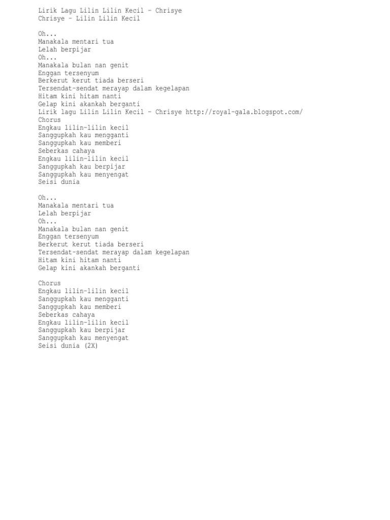 Lilin Lilin Kecil Chord : lilin, kecil, chord, Lirik, Chrisye, Lilin, Kecil, Dengan