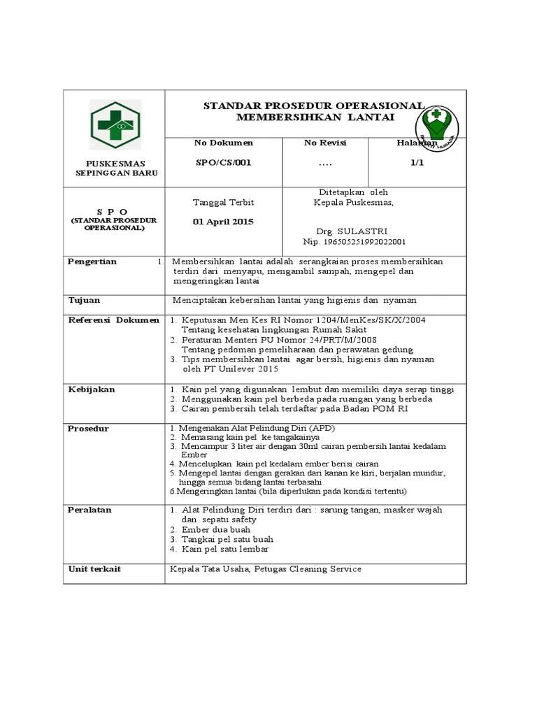 Sop Cleaning Service Rumah Sakit : cleaning, service, rumah, sakit