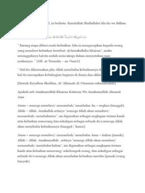 Jawaban Jazakallah Khairan Katsiran : jawaban, jazakallah, khairan, katsiran, Jazakumullah, Ahsanal