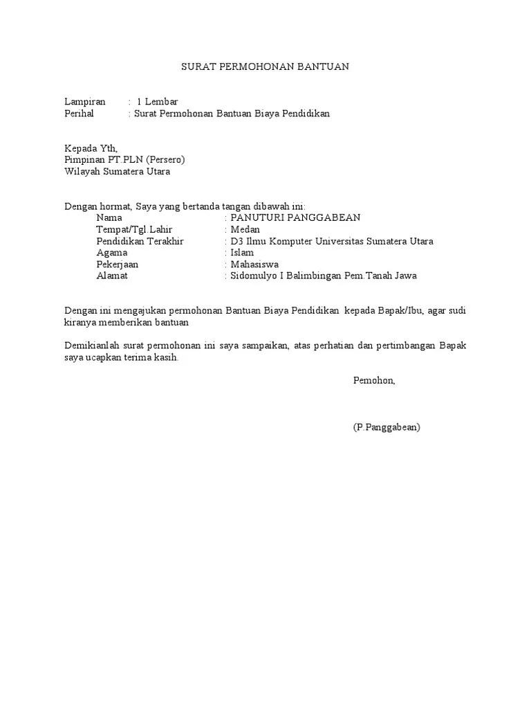 Contoh Surat Permohonan Bantuan Dana Proposal : contoh, surat, permohonan, bantuan, proposal, SURAT, PERMOHONAN, BANTUAN