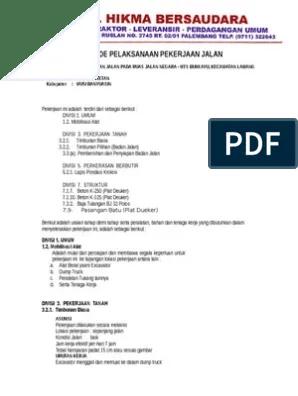Metode Pelaksanaan Pekerjaan Jalan Beton Pdf : metode, pelaksanaan, pekerjaan, jalan, beton, Metode, Pelaksanaan, Jalan, Beton