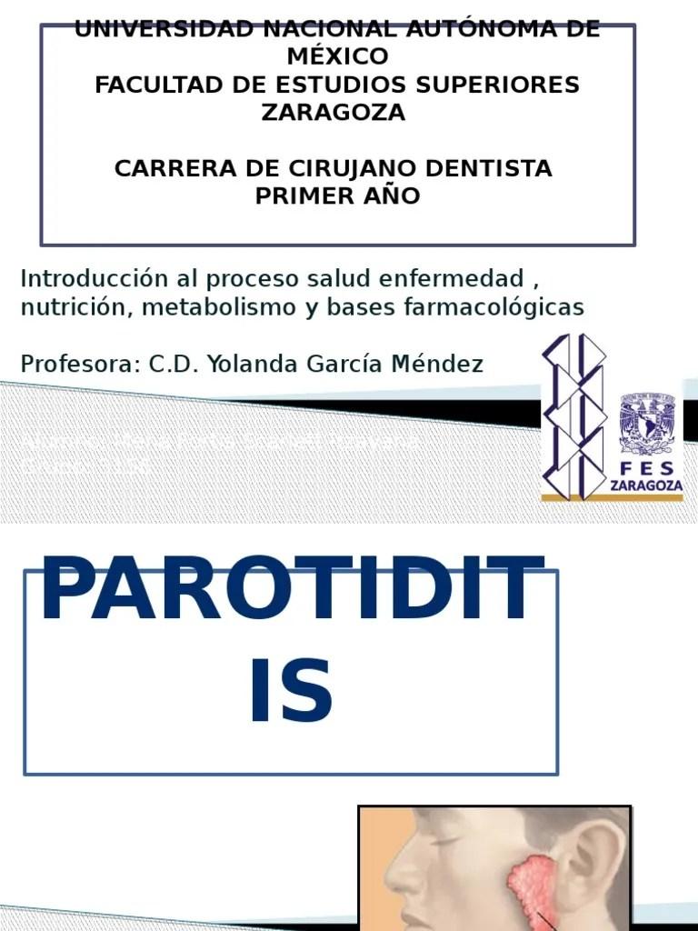 Parotiditis | Microbiología | Especialidades Medicas