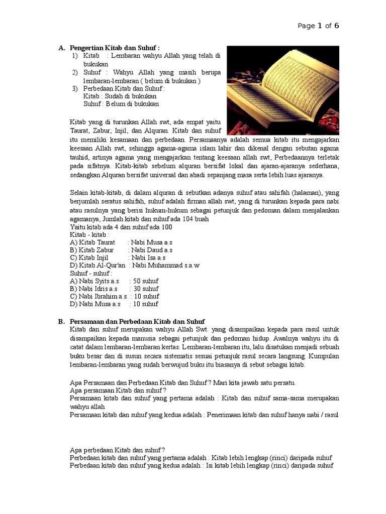 Pengertian Kitab Allah : pengertian, kitab, allah, Pengertian, Kitab, Suhuf